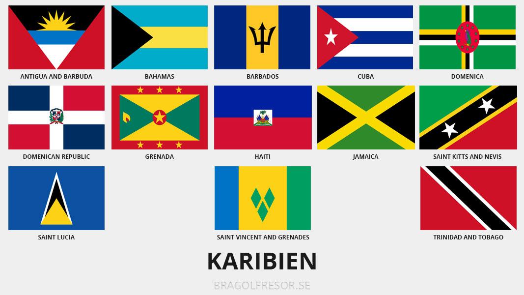 Landsinfo om Karibien - Bra Golfresor